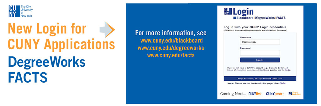 New CUNY Login Info for CUNY Applications